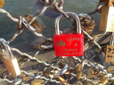Liebesschloss Brücke in Paris