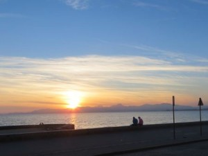 Sonnenuntergang gestern in Arenal