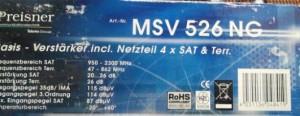 Preisner MSV 526