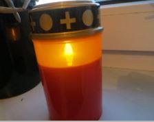 LED Grablicht mit Flacker Effekt