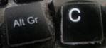 alt gr und c copyright tastaturkombination