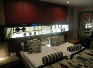 Unser Bett im Hotel Delphin Imperial