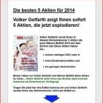 Aktientipp  von Volker Gelfarth – die 5 besten