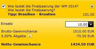 Screenshot WM Finale Wette