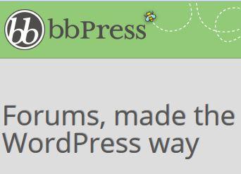 Ausschnitt aus der bbPress Startseite.