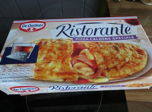 Die Verpackung der Dr. Oetker Pizza Calzone Speciale