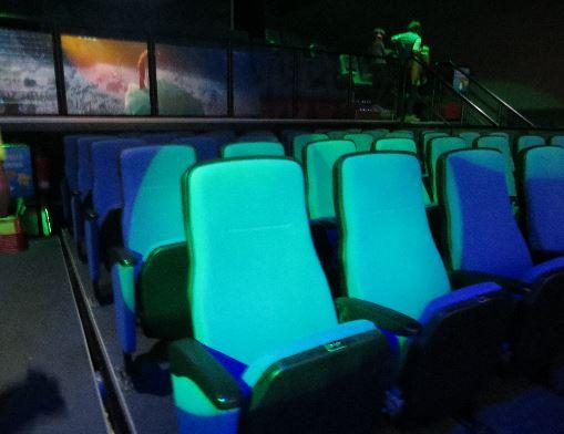 Die 5 Sitze speziell für die 5D Vorstellung im 5D Kino in Warnemünde
