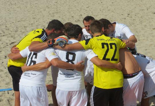 Beach Soccer Team Chemnitz vor dem Finale in Warnemünde
