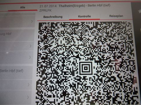 Handy Ticket auf der DB Navigator App