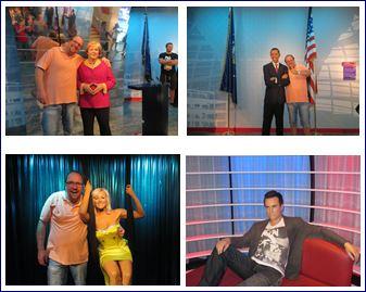 Weitere Wachsfiguren in Berlin. Angela Merkel, Helene Fischer, Barack Obama , Robbie Williams