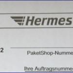 Mein erstes Paket / Päckchen mit Hermes
