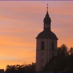 Abendrot in Thalheim Erzgebirge