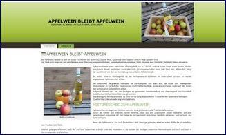 Scrennshot des zum Verkauf stehenden Apfelwein Webprojektes