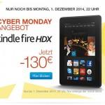Sonderangebot Kindle Fire HDX-Tablet bis zum Cyber Monday