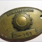 DDR Kripo Polizei Dienstmarke