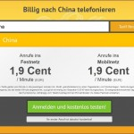 Billig nach China telefonieren mit toolani.com