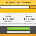Billig nach China telefonieren mit toolani.com