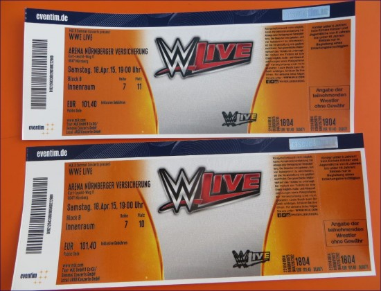 wwe tickets f r n rnberg 2015. Black Bedroom Furniture Sets. Home Design Ideas