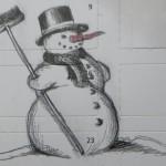 Bauanleitung für einen Schneemann