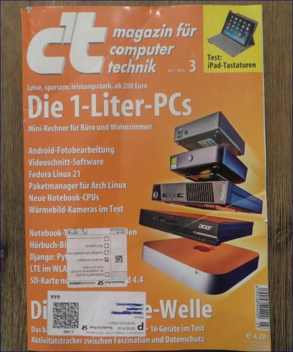 Vorderseite des CT Magazin 3/ 2015