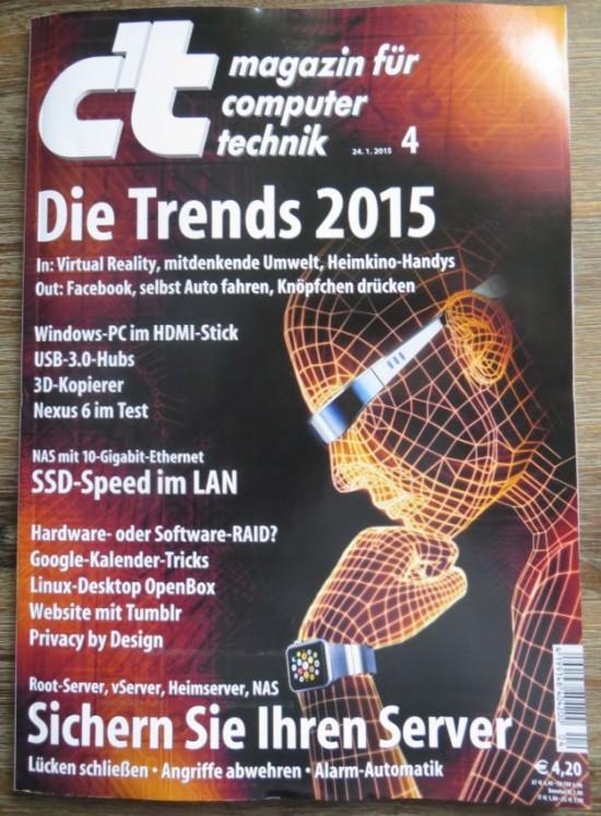 Cover vom CT Magazin 4 2015
