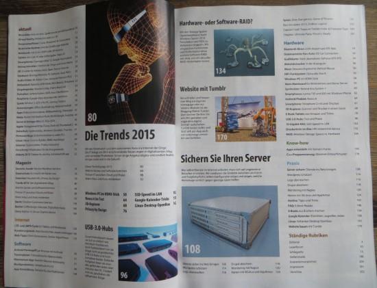 Inhaltsverzeichnis des akteullen CT Magazins 4 / 2015