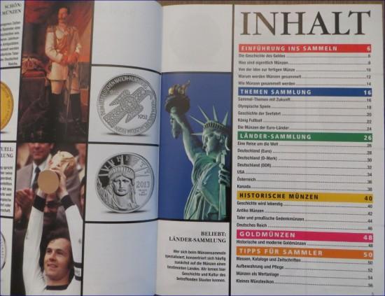 Münzen sammeln Spezial Inhaltsverzeichnis