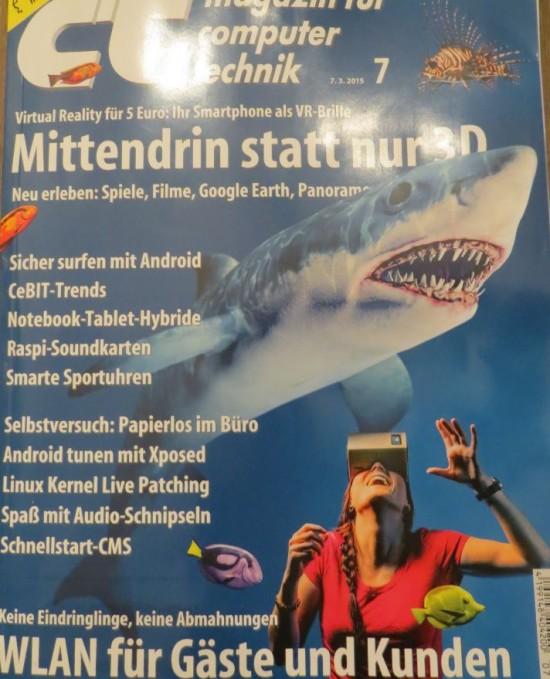 Das Cover der c`t Magazin Ausgabe vom 07.03.2015