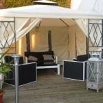 Unser Garten Pavillon auf der Terrasse