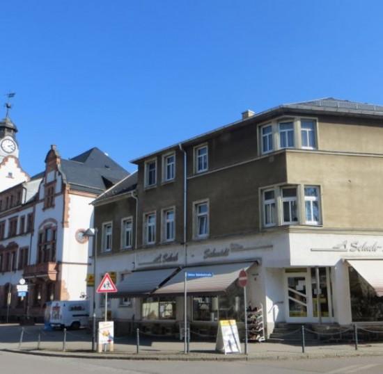 Schuh Schmidt und die Postfiliale in Thalheim Erzgebirge