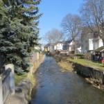 Der Fluss Zwönitz in Thalheim
