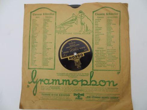 Rückseite der Grammophon Platte