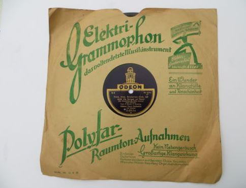 Cover der Grammophon Platte