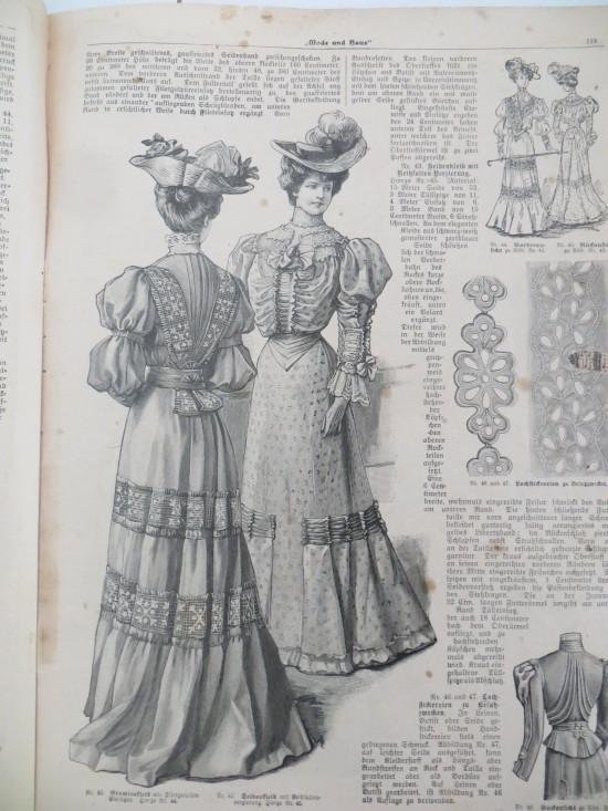 Das war die Mode der Damen im Jahre 1905