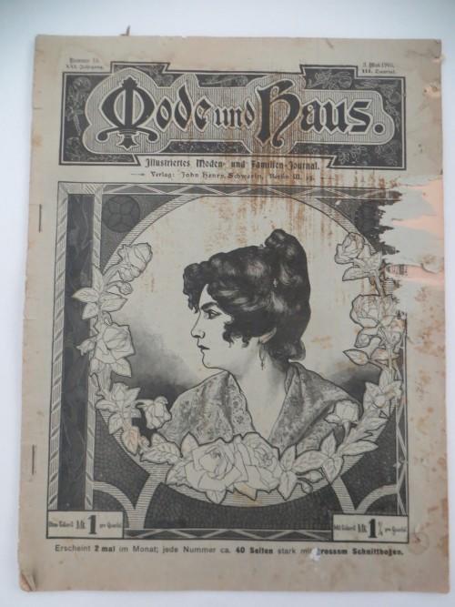 Mode und Haus Illustriertes Moden- und Familien-Journal  Asgabe 03. Mai 1905
