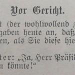 """Ein Witz von 1905 """"vor Gericht"""""""