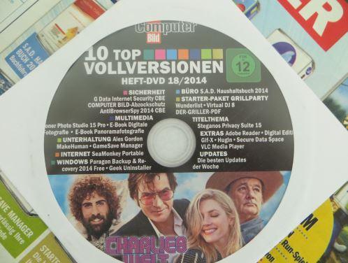 """Die  DVD die der Computerbild Ausgabe 18/2014 beigefügt ist. Inklusive dem Fim """"Charlies Welt"""""""
