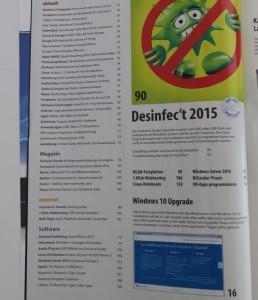 Inhaltsverzeichnis Seite 1 CT Magazin 14 / 2015 vom 13.06.2015