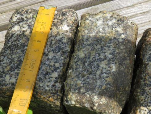 Die Länger der Granit Pflastersteine ist immer so ca. 10 cm