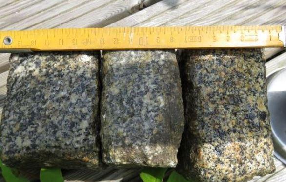 Meine gebrauchten Granit Pfalstersteine