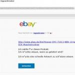 eventuelle Phishing Mail mit Ebay Layout und 1blu Link