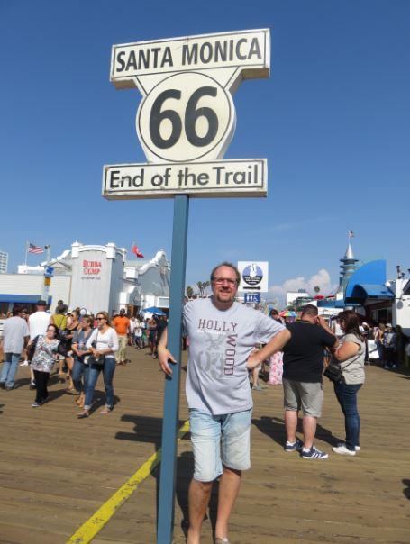 Hier in Santa Monica endet die legendäre Route 66