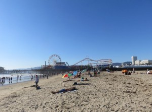 Strand am Santa-Monica Pier in Los Angeles