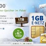 allnet 500 mit 1 GB  Internet Flat und 1 TB web.de online speicher