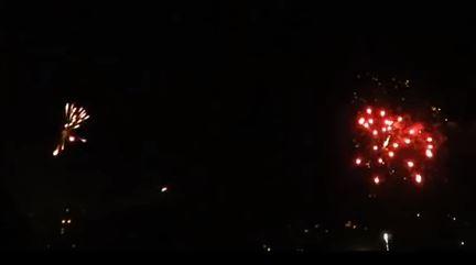 Feuerwerkr in der Silvesternacht 2015 / 2015 in Thalheim Erzgebirge