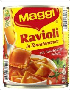 Bei Amazon kann man auch Ravioli in Tomatensauce kaufen