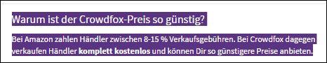 Crowdfox Preise