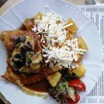 Mozzarella Schnitzel mit Bratkartoffeln Restaurant Breitenbach